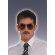 Moustache Gentleman Blk Deluxe