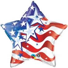 """Mylr 20"""" Star w/Flag"""