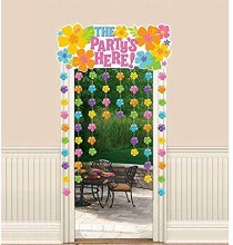 Hibiscus Luau Party Door Curtain