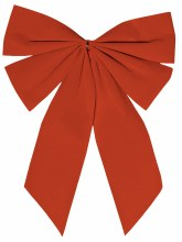 """Small Flocked Red Bow ~ 15"""""""