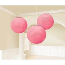 Lantern Hot Pink 3pk
