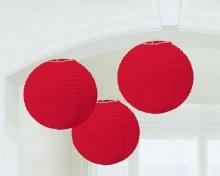 Lantern Apple Red 3pk