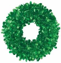 """Wreath Jumbo Tinsel Grn 17"""""""