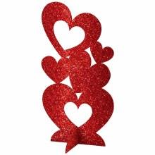 Hearts 3D Centerpiece