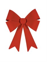 """Large Flocked Red Bow ~ 29"""""""