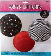 50's Round Lantern 3pk