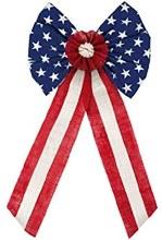 Americana Burlap Bow