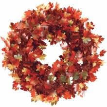 Wreath Fall Foliage Tinsel