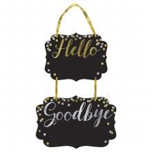 Hello & Goodbye ChalkboardSign