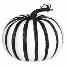 Pumpkin Lg Foam Black Stripes