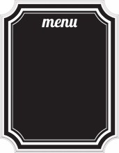 Eat & Enjoy Menu Chalkboard