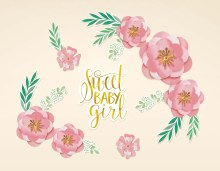 Floral Baby Party Backdrop