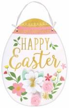 Easter Egg Sign w/ Flowers