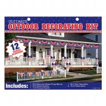 Patriotic JUMBO Outdoor Decor Kit
