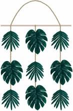 Palm Leaf Hanging Sign Decor