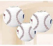 Baseball Lanterns 3pc