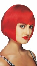 Wig Sassy Neon Red