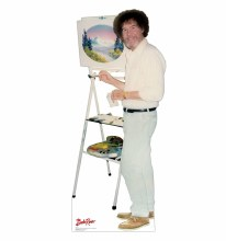 Bob Ross Painting Stand Up