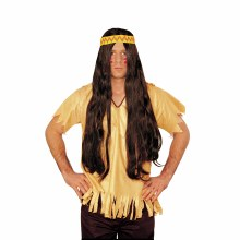 Wig Hippie w/Detach HB Brown