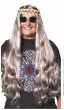 Wig Hippie w/Detach HB Grey