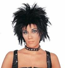Wig Unisex Rocker Blk