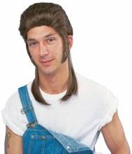 Wig Mullet Brown