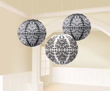 Lanterns Paper Damask Black
