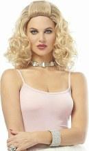 Curly Blonde Wig Shoulder Length