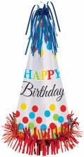 Bright Birthday Cone Hat Lg