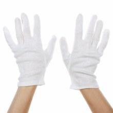 Gloves White Cotton