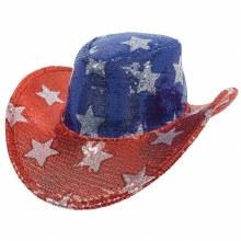 Hat Cowboy Patriotic Sequin