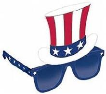 Glasses Patriotic Top Hat