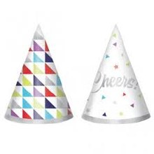Here's to Bday Party Hats 12ct
