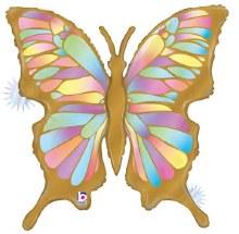 """Jumbo Shiny Opal Butterfly ~ 24"""""""