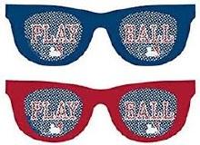 Baseball Printed Glasses Favors 10pk