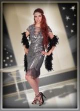 Flapper Dress Grey Large