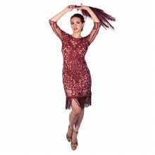 Flapper Dress Burgundy Large