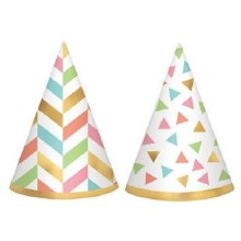 Confetti Fun Cone Hats Mini