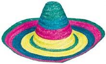 Sombrero Multicolor Straw