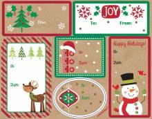 Labels Krafty Christmas