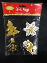 Gift Tags Christmas Glitter