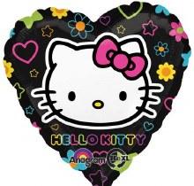 """Hello Kitty Black Neon Heart ~ 18"""""""