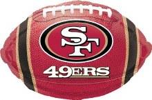 "San Fransisco 49ers Football ~ 18"""
