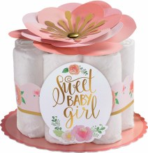 Floral Baby Diaper Decor Kit