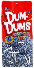 Candy Dum Dums 75ct Blue