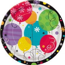 Breezy Bday Plate 7in 8ct