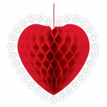 Heart Honeycomb Decor