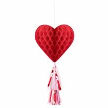 Valentine Honeycomb w/ Tassel