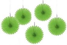 Fan Decor Mini Green 5pc