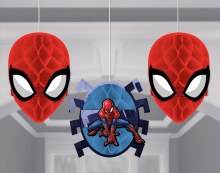 Spiderman Wonder Honeycomb Hanging Decorations